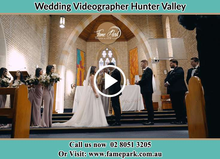 Bride And Groom At The Altar Hunter Valley