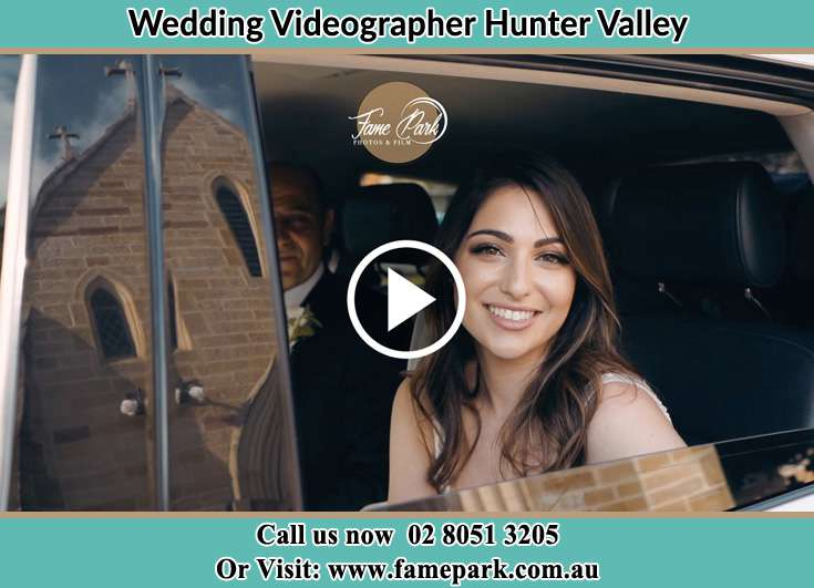 The Bride Smiling Inside The Car Hunter Valley